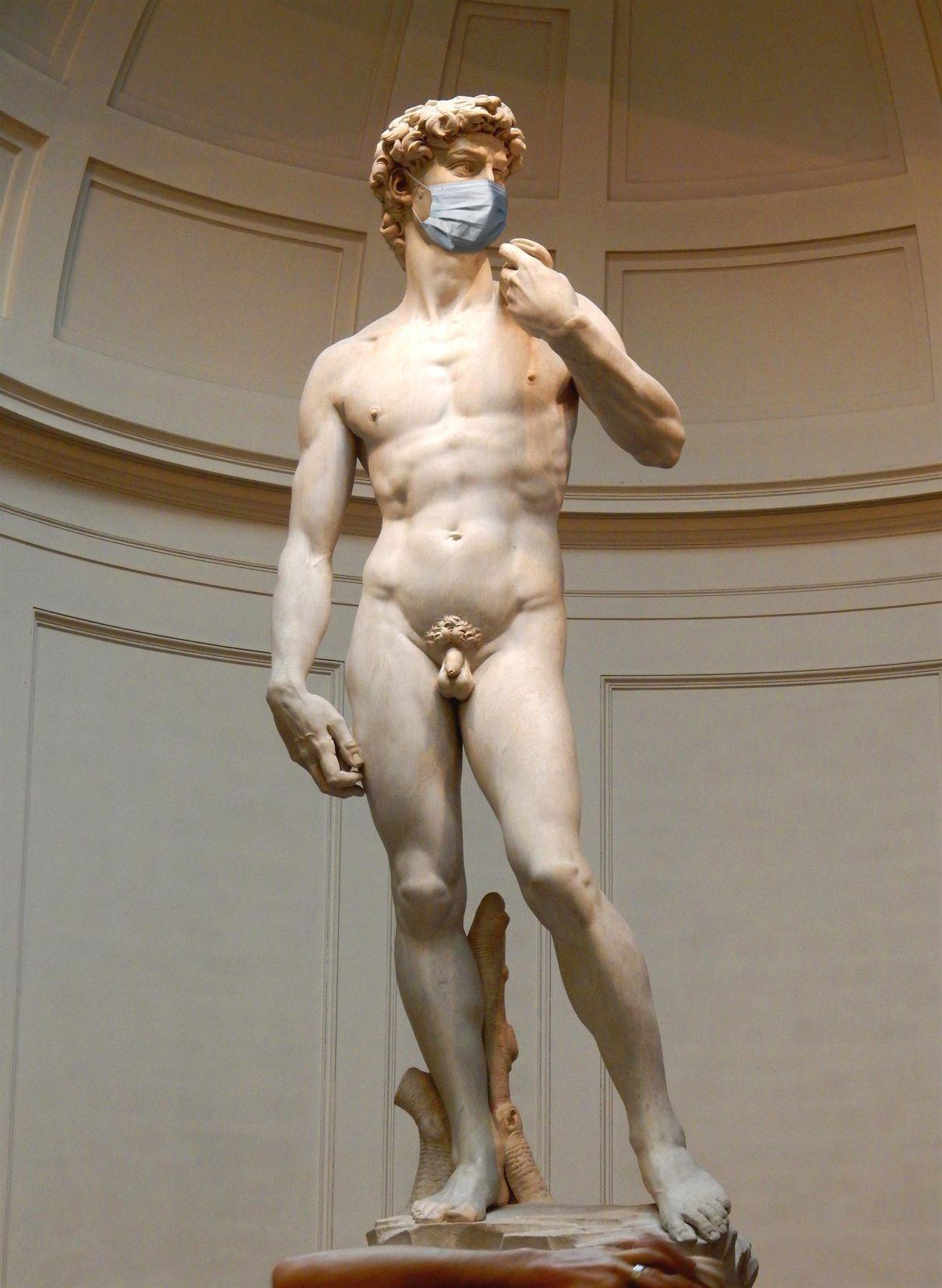David de Miguel Ángel con máscara coronavirus