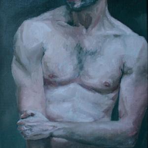 pintura al óleo desnudo masculino