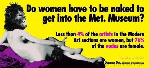 Mujeres artistas Guerrilla Girls