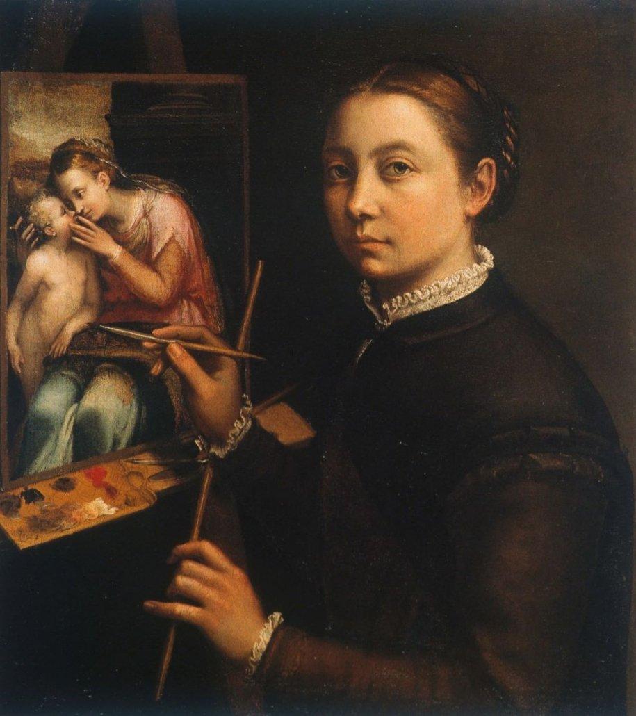 Sofonisba-Anguissola-Autorretrato-1556 Mujeres Artistas