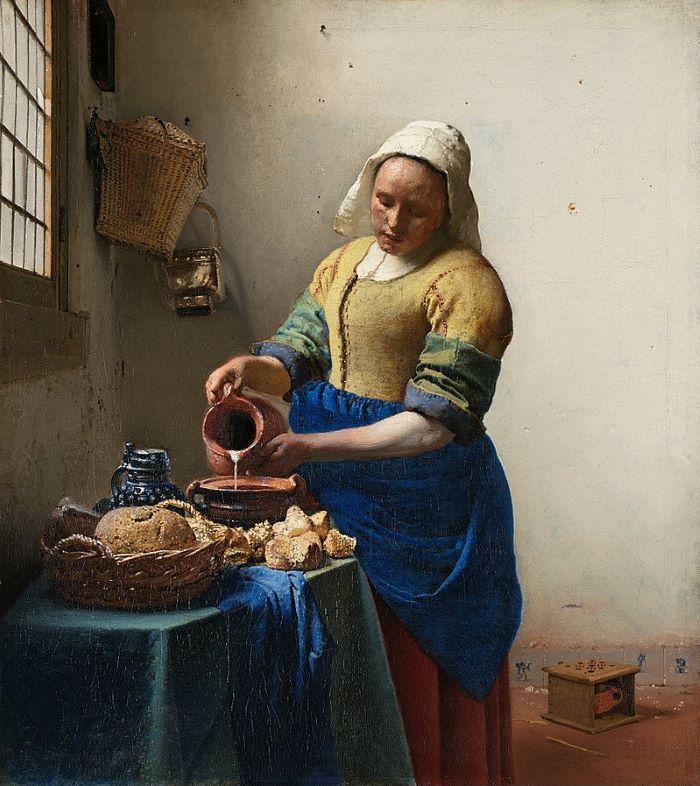 """""""La Lechera"""" de Johannes Vermeer. Óleo sobre lienzo. (1658-1660). Una de las obras más destacadas del Rijksmuseum"""