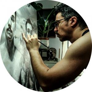 Adrián Goma artista en Galería Inéditad