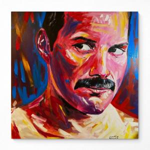 retrato de Freddie Mercury