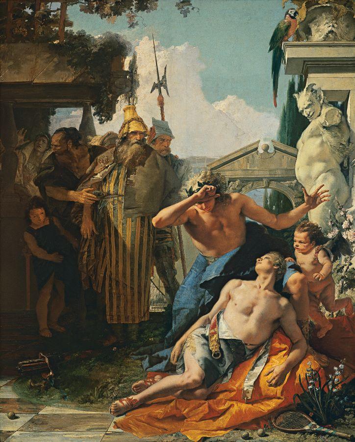 Arte queer. La muerte de Jacinto_Giambattista Tiepolo_1752-1753_Óleo sobre lienzo_Museo Thyssen_Bornemisza