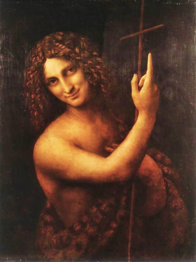 San Juan Bautista. Leonardo da Vinci. Óleo sobre tabla. 1513-1516. Museo del Louvre